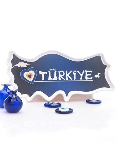Seramik Türkiye Çerezlik Mavi Nazar Boncuklu-Joy Glass